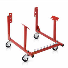 Red 1000lb Auto Engine Cradle Stand for Chevrolet Chevy w/Dolly Wheels
