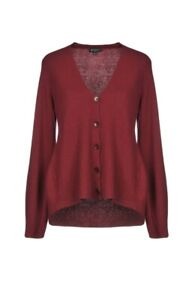 ETRO CASHMERE BLEND CARDIGAN DEEP RED 1800$  SIZE 10 US