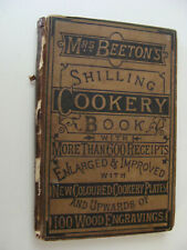 Mrs Beeton's Shilling Cookery Book c1890 cookery plates, wood engravings