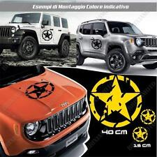 KIT 3 STICKERS STAR MUD BODYWORK GRAPHIC JEEP RENEGADE OFF ROAD YELLOW