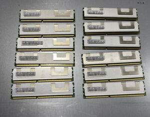 Lot of 12 - Samsung 8GB PC3-8500R DDR3 1066 ECC Server Mem M393B1K70BH1-CF8