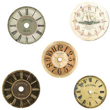 New 'Old World' Antique Reproduction Clock Dial - 13 Sizes & Styles to Choose!