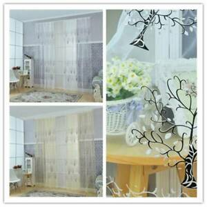 Tree Printed Curtains Kids Tulle Curtains Living Room Sheer Tulle Voile Drape