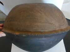 "AFRICAN Incised Decorative Clay Vessel/Pot from the Dogon Tribe of Mali 12"" x16"""