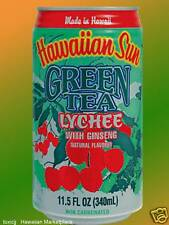 12cans Hawaiian Sun GREEN TEA LYCHEE with Ginseng