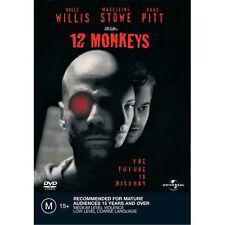 12 MONKEYS - BRAND NEW & SEALED R4 DVD (BRUCE WILLIS, BRAD PITT, CHRIS PLUMMER)