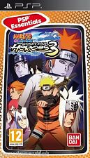 Naruto Shippuden Ultimate Ninja Heroes 3 PSP Essentials SEALED NEW