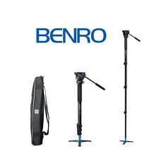 Benro A38FDS2 Video Monopod Twist Lock, S2 Head and 3 Leg Base (Black) OPEN BOX