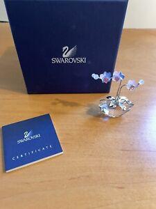 """Swarovski Crystal Figurine, Orchid Opal Flower 2"""" 9400 NR 000 095"""