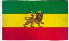 Ethiopia Flag 3x5 ft Ethiopian Lion of Judah Rastafarian Rasta Green Yellow Red