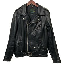 Schott USA 519 Perfecto Genuine Steerhide Leather Biker Jacket Black Small 38