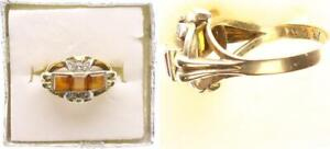 Ring, Gold 585, With Brown Stone, 5,3g, Ring Size 53 (49897)