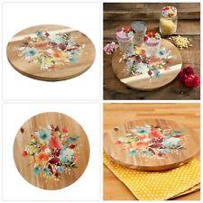 12 INCHES REVOLVING FOOD SERVER Decorative Tabletop Food Serveware Platter Tray