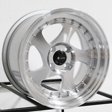 15x8 Vors VR2 4x100 20 Silver Wheels Rims Set(4)