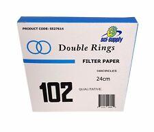 24cm Filter Paper, Qualitative, Medium, 240mm, Pkg / 100