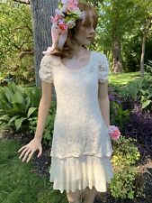 A'Reve Anthropology Ivory Lace Party Wedding Dress Women's Size Small S