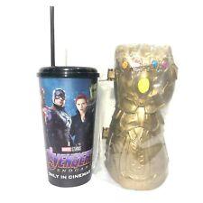 2Pcs Marvel Avengers Endgame Movie Theatres Gauflet Thanos Hotdog Container Cup