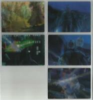 """Star Wars Clone Wars Bounty Hunters - """"Motion Cards"""" Set of 5 Chase Cards #1-5"""