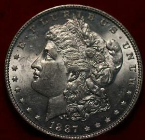 Uncirculated 1887 Philadelphia Mint Silver Morgan Dollar