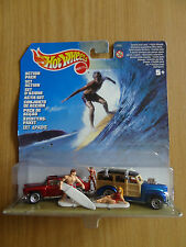 HotWheels SURF AZIONE Pack Personalizzato Hot Rods TAVOLA DA SURF BOARDS WOODIE CHEVY NOMAD