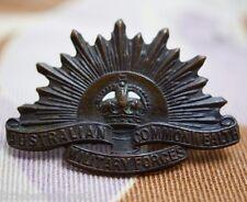 Australian Commonwealth Military Forces Rising Sun Badge Pin Uniform (Lot A)
