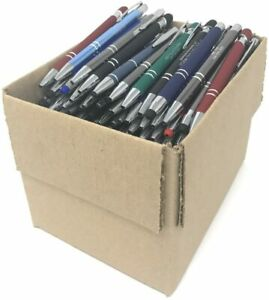 Bulk Lot - 5 LBS. Misprint Metal Retractable Pens - (Approx. 120 Pens)
