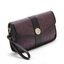 New Women PU Leather Handbag Party Evening Envelope Clutch Bag Wallet Tote Purse