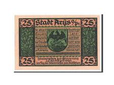 [#350795] Notgeld, Ostpreussen, Arys Stadt, 25 pfennig 1921, Mehl 47.1a
