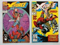 X-FORCE #2 #15 2ND APP DEADPOOL HIGH GRADE LOT OF 2 MODERN MARVEL COMICS CABLE A