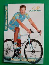 CYCLISME carte cycliste MAXIM GOUROV équipe ASTANA 2011