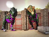 Ark Survival Evolved Xbox One Pve Rex Breeding Pair Dark Green And Purple