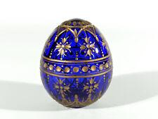 Russland BRIEFBESCHWERER ° Glas Ei ° Etikett ° Design nach Faberge °