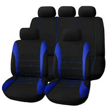 Auto Car Seat Covers 9 Set Full Styling Seat Cover Blue for Interior Accessories
