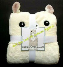 "Llama Hooded Blanket 50"" x 60"" ~ New"