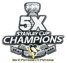 5X Stanley Champ Pittsburgh Penguins Sport Patch Logo Embroidery Iron,Sewing on