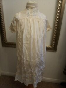 Antique 1920s girls silk & lace nightdress - Age 4/5 - Ditsy Vintage Art Deco