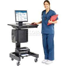 Medical Computer Cart - Black