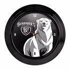 122599 BUNDABERG BLACK ROUND CLOCK BUNDY RUM