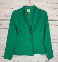 Cabi Women's S Small Green Button Light Spring Verde Jacket Coat Blazer $119