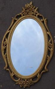 Beautiful Oval Framed Wall Mirror – VGC – GORGEOUS LIGHTWEIGHT ORNATE FRAME