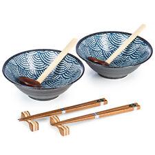 Seikaiha giapponese Ramen Noodle Bowl Set