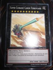 YU-GI-OH! COM SUPER CUIRASSE CANON FERROVIAIRE OP04-FR023 NEUF FR OTS PACK 5