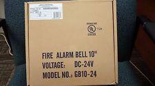 "Gentex Bell, Model GB10-24, 24 VDC, 10"", Red."