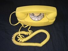 Vintage Princess Phone Yellow Rotary Dial Telephone Western Electric 702BM