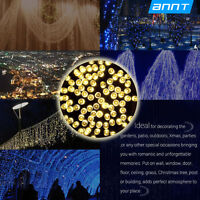 17M Solar 100LED Warm White Waterproof Strip String Fairy Light Outdoor Party