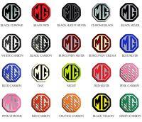 MG Car Alloy Wheels Centre Cap Badges Set 45mm Octagon.55mm, 57mm, 80mm Circular