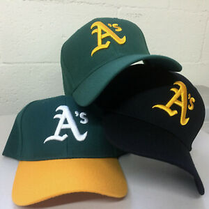 Oakland A's Cap Athletics Hat Embroidered Adjustable Curved Men