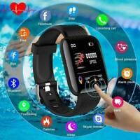 Smart Watch Bluetooth 4.2 Heart Rate Oxygen Blood Pressure Fitness Tracker Hot !