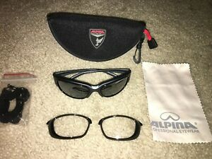 ALPINA PSO TWO Sport Glasses / Sunglasses CYCLING gray / clear lenses junior NEW