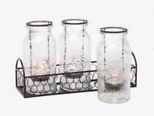 PartyLite - Vintage Milk Bottle Tealight Holder Set - New In Box